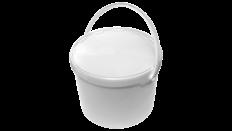Eimer mit Deckel, rund, rechteckig, Kunststoffeimer, Kunststoff-Eimer, Lebensmitteleimer, Lebensmittel-Eimer, Meier Verpackungen