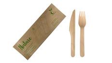 Einwegbesteck, Besteckset aus Holz, nachhaltig, umweltfreundlich